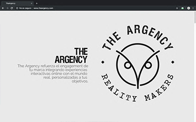 WEB THE ARGENCY - Diseño web freelance