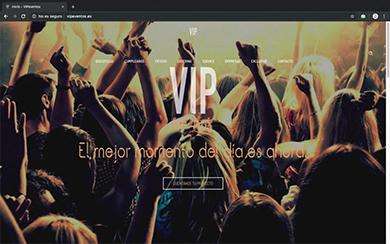 WEB VIP EVENTOS - Diseño web freelance